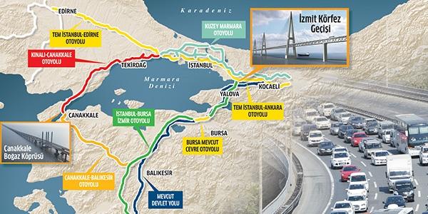 İstanbul-Çanakkale-Balıkesir Otoyol Projesinin ÇED Raporu Onaylandı