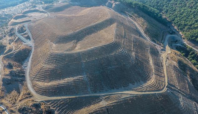 600 Dekarlık Eski Maden Sahasında Rehabilitasyon Çalışmaları Tamamlandı