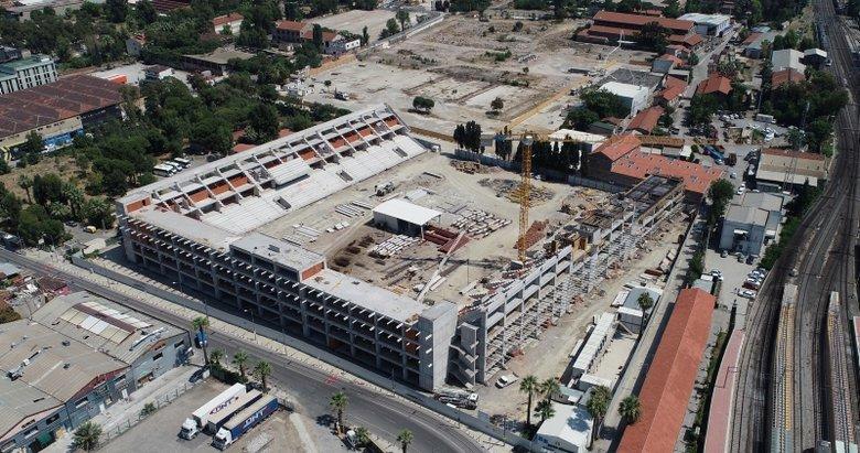 Alsancak Stadı İnşaatı Havadan Görüntülendi