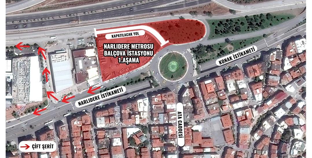 Balçova Metro İstasyonu Çalışmaları Başladı