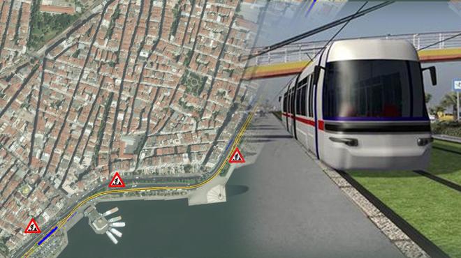 Alaybey'de Tramvay Hattı İnşaatı Başladı