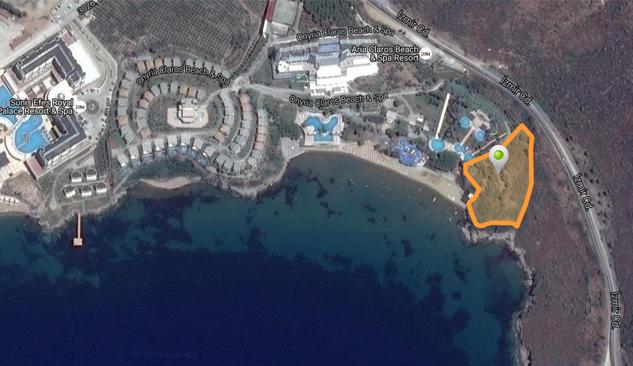Özdere'de 7.8 Milyona Denize Sıfır Otel Arsası