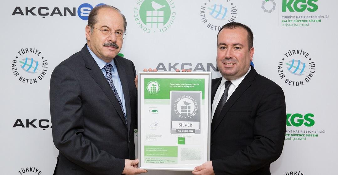 Türkiye'de İlk Beton ve Çimento Sürdürülebilirlik Belgelendirmeleri Yapıldı