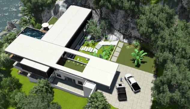 Tayland'ın Kayalıklarında Lüks Villa