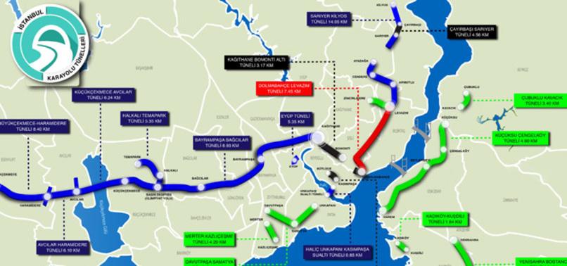 İstanbul'a 16 Yeni Tünel İnşa Ediliyor