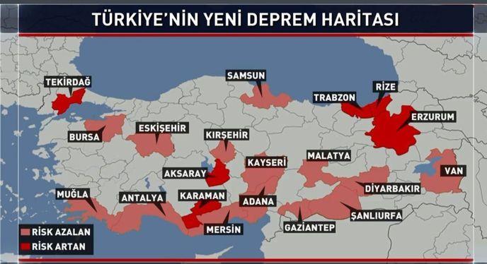 Türkiye'nin Deprem Haritası Güncellendi: Risk Azaldı