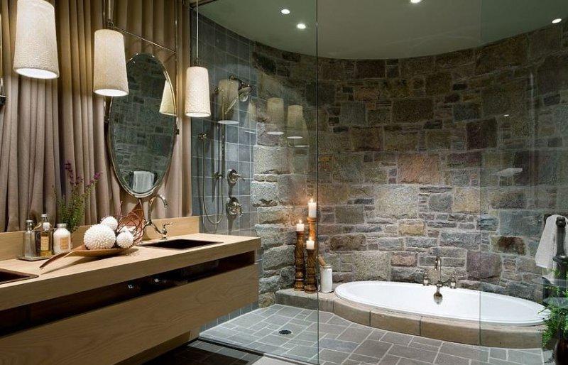 Banyo Dekorasyonunda Doğal Taş Esintisi