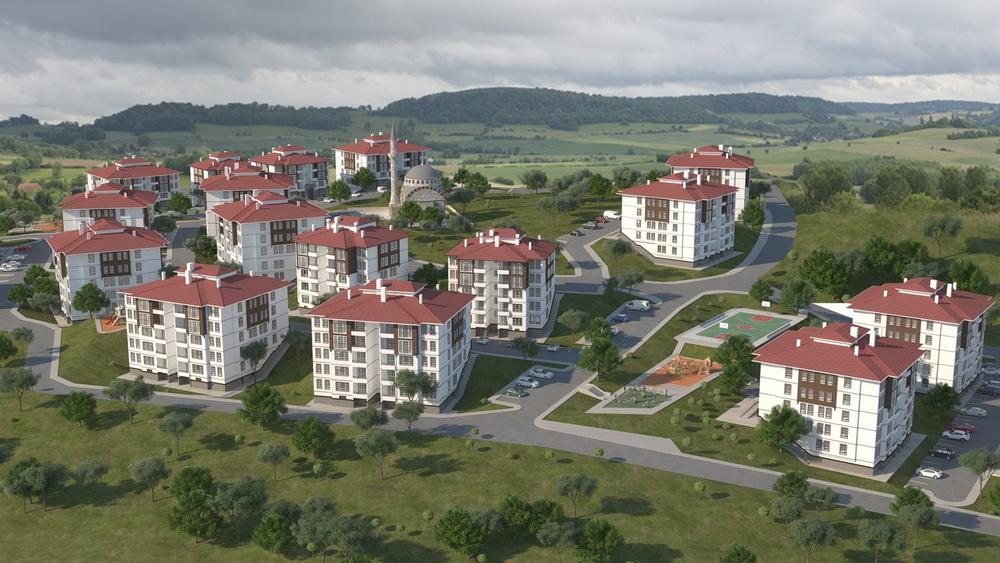 TOKİ'den Uşak Karahanlı'ya 352 Konuluk Yeni Proje