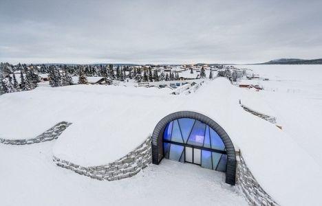 İsveç'te Buzdan Lüks Otel Yapıldı!
