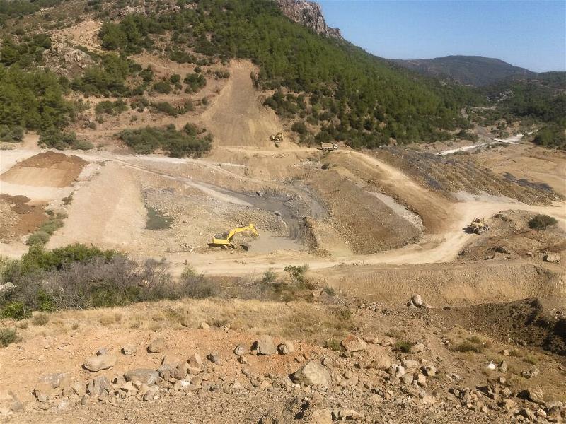 Karaburun Karareis Barajı'nda Çalışmalar Devam Ediyor