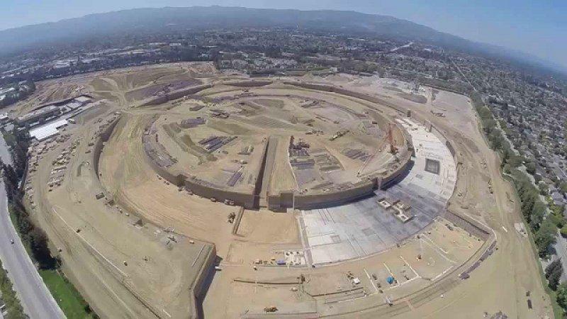 Apple'ın yeni Merkezi Havadan Görüntülendi