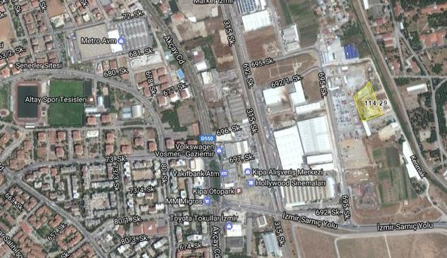 Gaziemir'de 2.5 Milyon TL'ye İhaleden Satılık Gayrimenkul