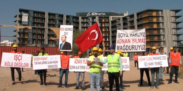 Çiğli'de Maaşlarını Alamayan İnşaat İşçileri Eylem Yaptı