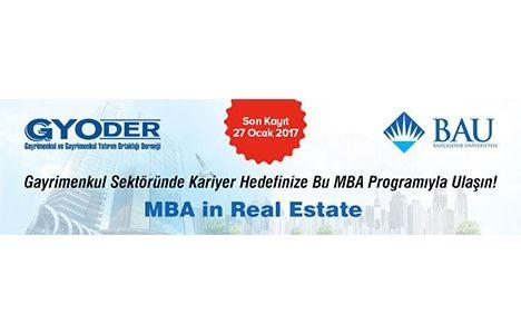MBA in Real Estate Kayıtları İçin Son Gün 27 Ocak!