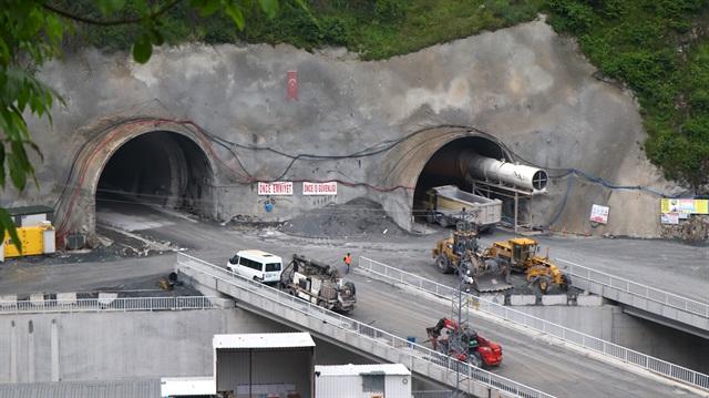 Yeni Zigana Tüneli İnşaatının Yüzde 61'i Bitti