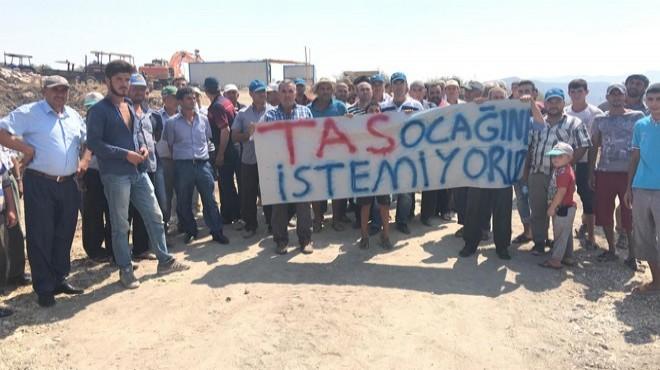 Köylüler 4 Yıl Sonra Yeniden Açılan Taş Ocağını Protesto Etti