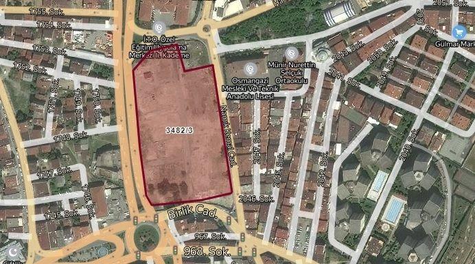 İstanbul Büyükşehir Belediyesi'nden 201 Milyon TL'ye Satılık Arsa