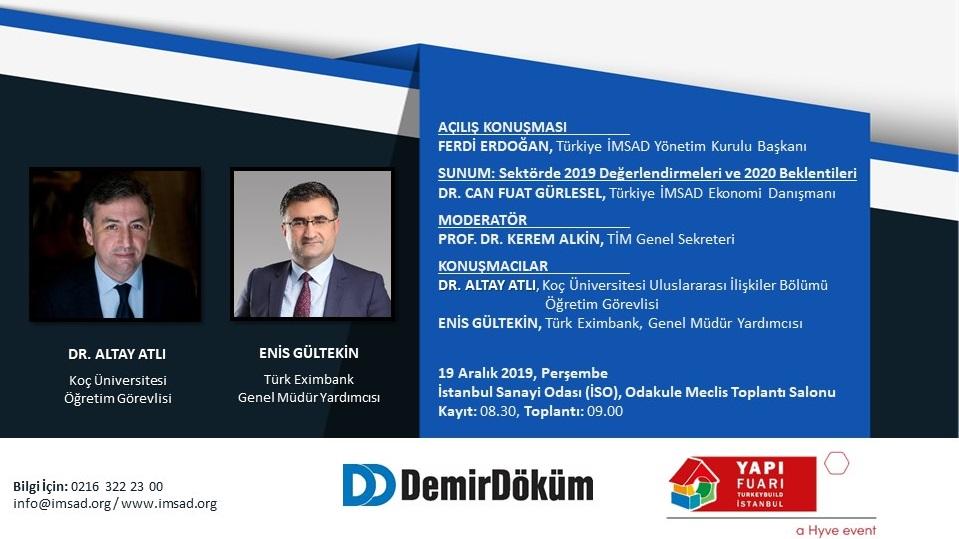 Türkiye İMSAD Gündem Buluşmaları 19 Aralık'ta