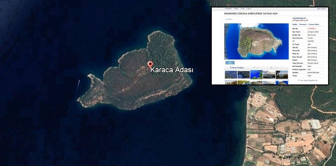 Marmaris'teki Satılık Adanın Fiyatında 65 Milyon TL İndirim