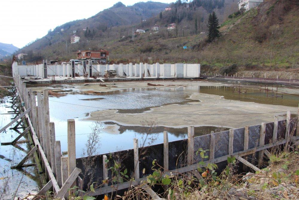 Trabzon Yomra Sanayi Sitesi İnşaatı Durdu