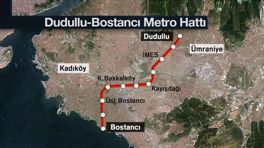 Dudullu-Bostancı Metrosu 2021'de Açılacak