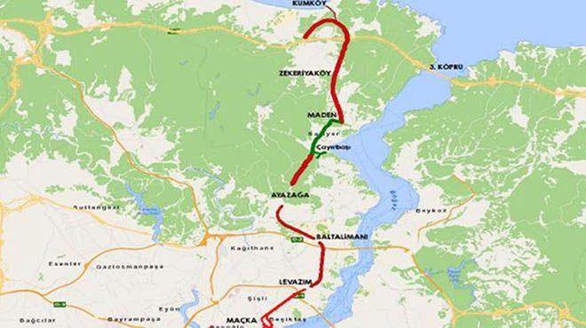 İşte Dolmabahçe-Levazım-Baltalimanı-Ayazağa Tünelleri'nin Güzergahı!