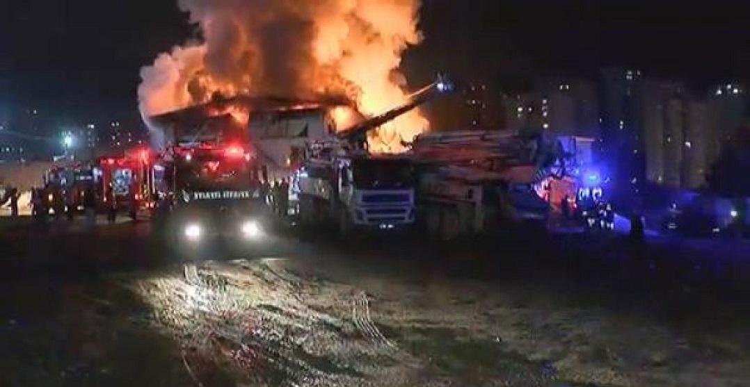 Türkiye'nin En Büyük İnşaat Projesinde Yangın: 1 İşçi Öldü 5 İşçi Yaralandı
