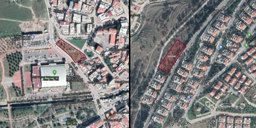 İzmir Büyükşehir Belediyesi'nden 6,8 Milyon TL'ye Satılık 2 Arsa