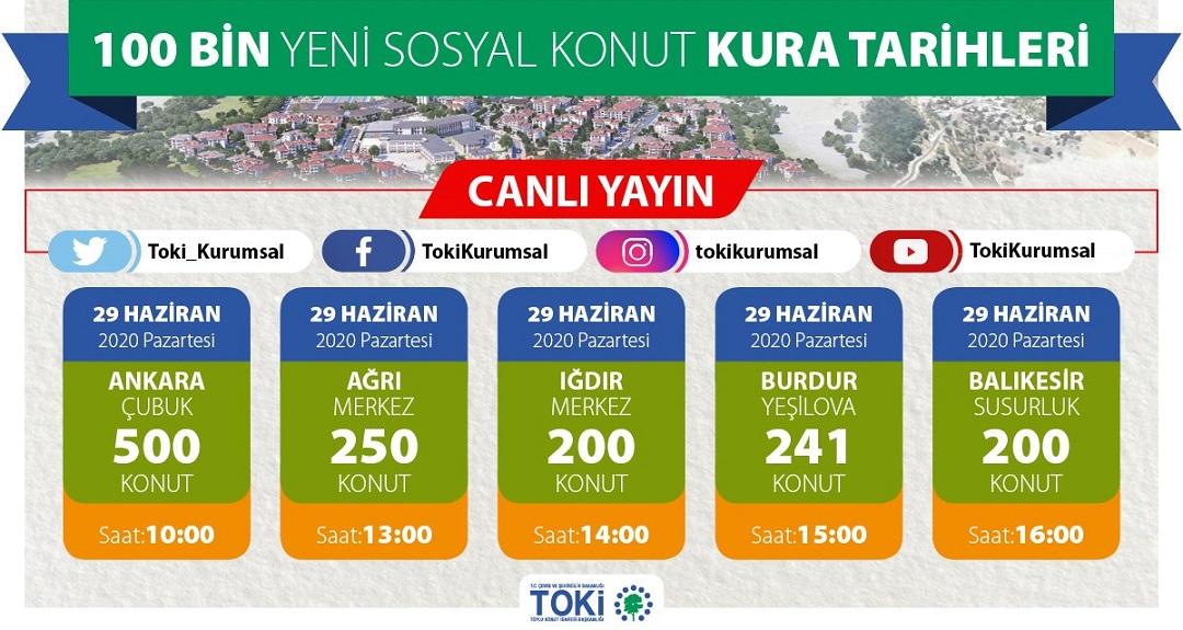 TOKİ Ankara Çubuk Kura Sonuçları
