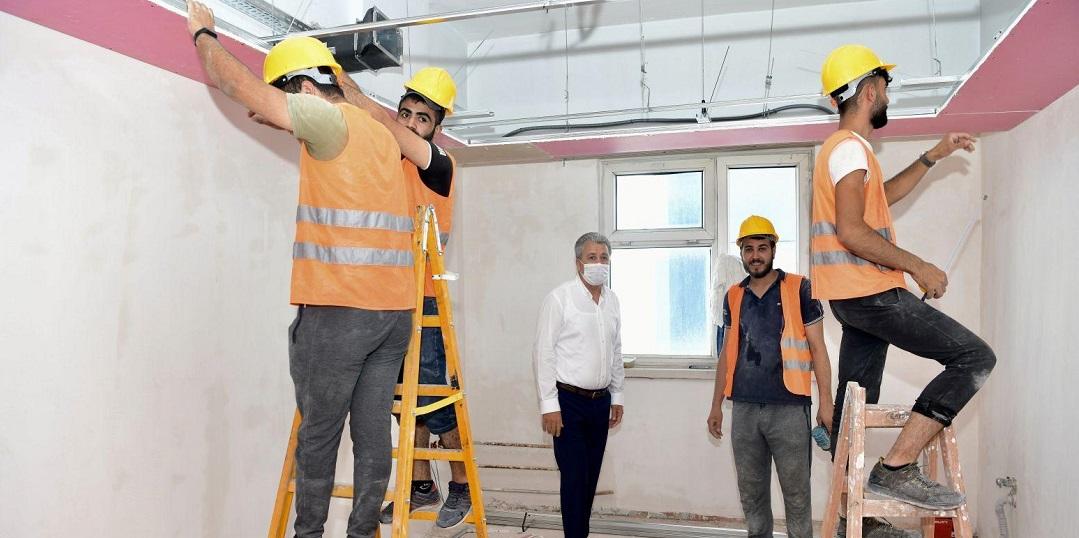 EÜ Hastanesinde yenileme ve onarım çalışmaları devam ediyor