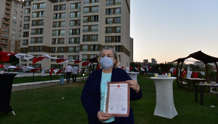 Tuzla'da 250 Aile Tapularına Kavuştu