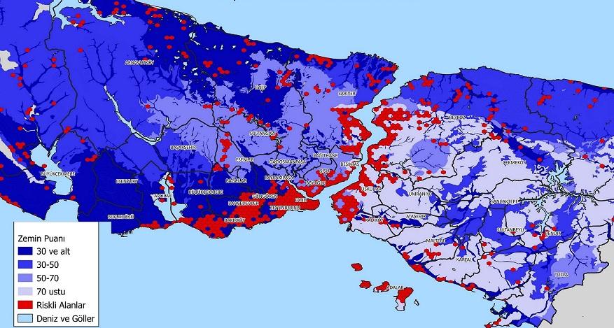 GABORAS İstanbul'un Deprem Haritasını Yayınladı