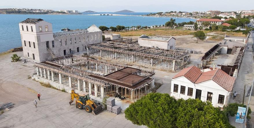 Ayvalık Kırlangıç Fabrikasında Restorasyon Çalışmaları Hızlandı