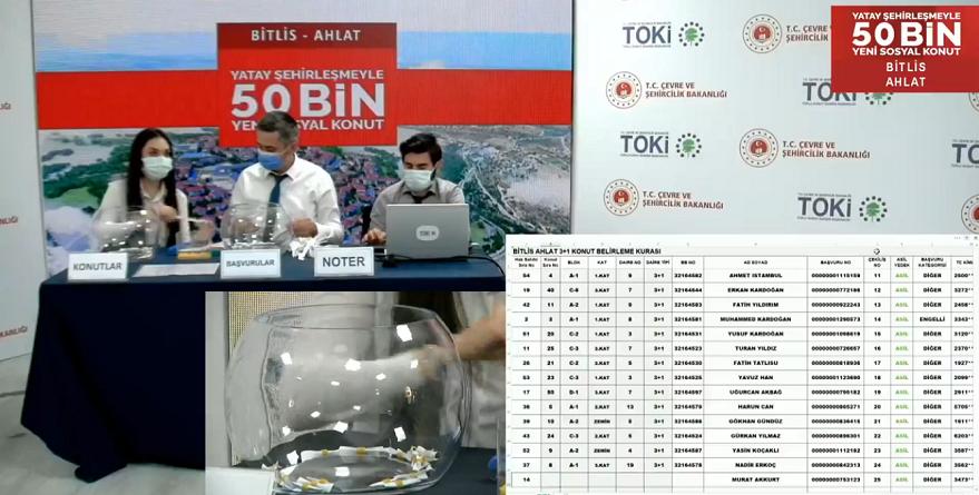 TOKİ Bitlis Ahlat Kura Sonuçları