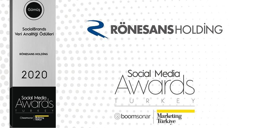 Social Media Awards'dan Rönesans Holding'e Ödül