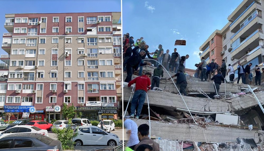 Bayraklı'da 8 Katlı Bina Neden Yıkıldı