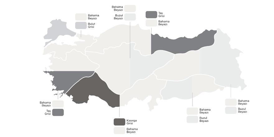 Türkiye'nin Renk Haritası Çıkarıldı!