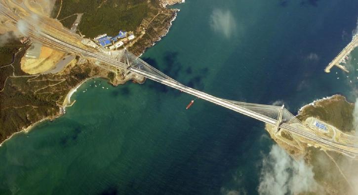 Yavuz Sultan Selim Köprüsü'nün 5 Bin Metre Yüksekten Görüntüsü