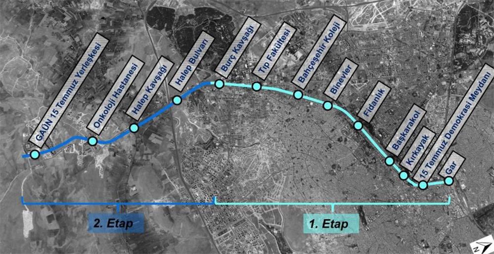 Gaziantep'e Metrosunda Onay Süreci Tamamlandı