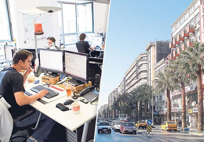 İzmir'de Ofis Kiraları Arttı, Dükkan Kiraları Düştü