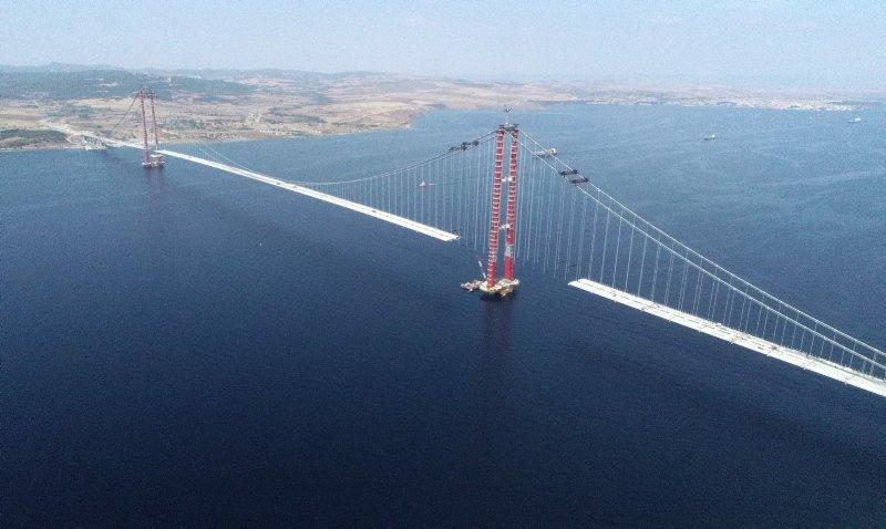 Çanakkale Köprüsünde Son Çalışmalar Yapılıyor