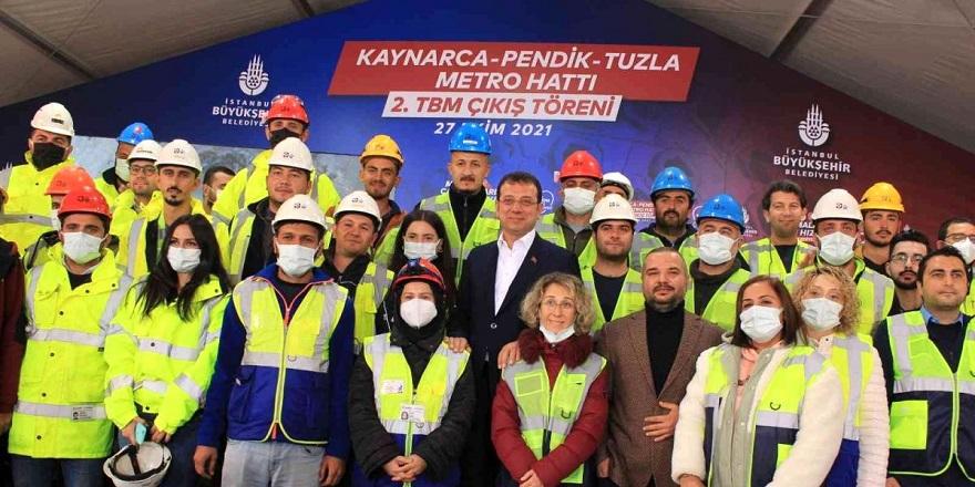 Kaynarca Pendik Tuzla Metro Hattı 2. TBM Çıkış Töreni Yapıldı