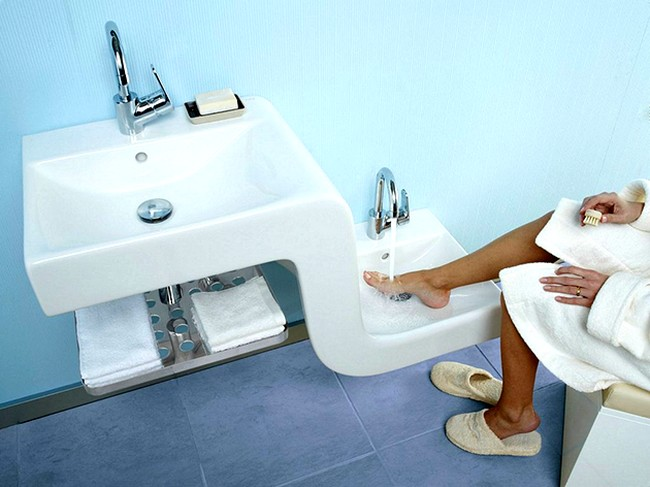 Banyoda Çift Lavabo Kullanımı