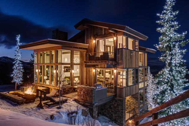Tasarımlarıyla Büyüleyen Rustik Dağ Evleri
