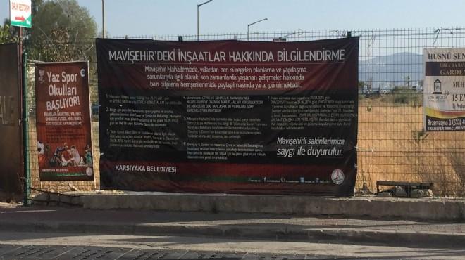 Karşıyaka Belediyesi: Mavişehir'deki İnşaatlardan Biz Sorumlu Değiliz