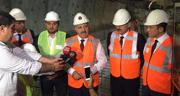 Bakan Arslan Sabuncubeli Tüneli Projesini Yerinde İnceledi