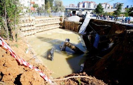 Ankara'da İnşaatın Temeli Çöktü!