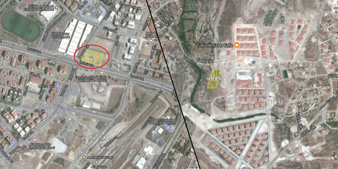 TOKİ'den İzmir'de 15.3 Milyon TL'ye Satılık 2 Arsa