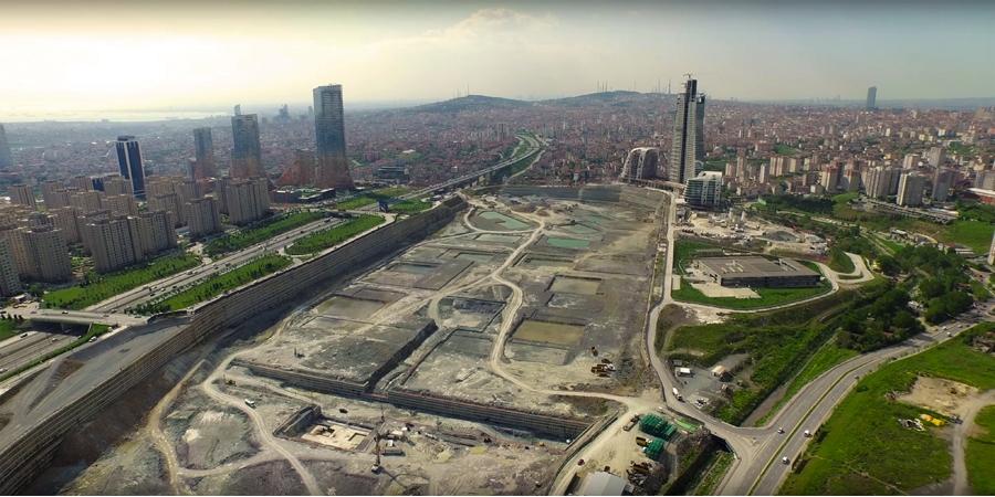 İstanbul Finans Merkezinde Binaların Temeli Atılıyor