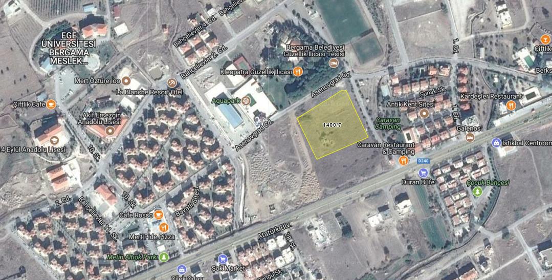 Bergama Belediyesi'nden 7.8 Milyon TL'ye Satılık Arsa